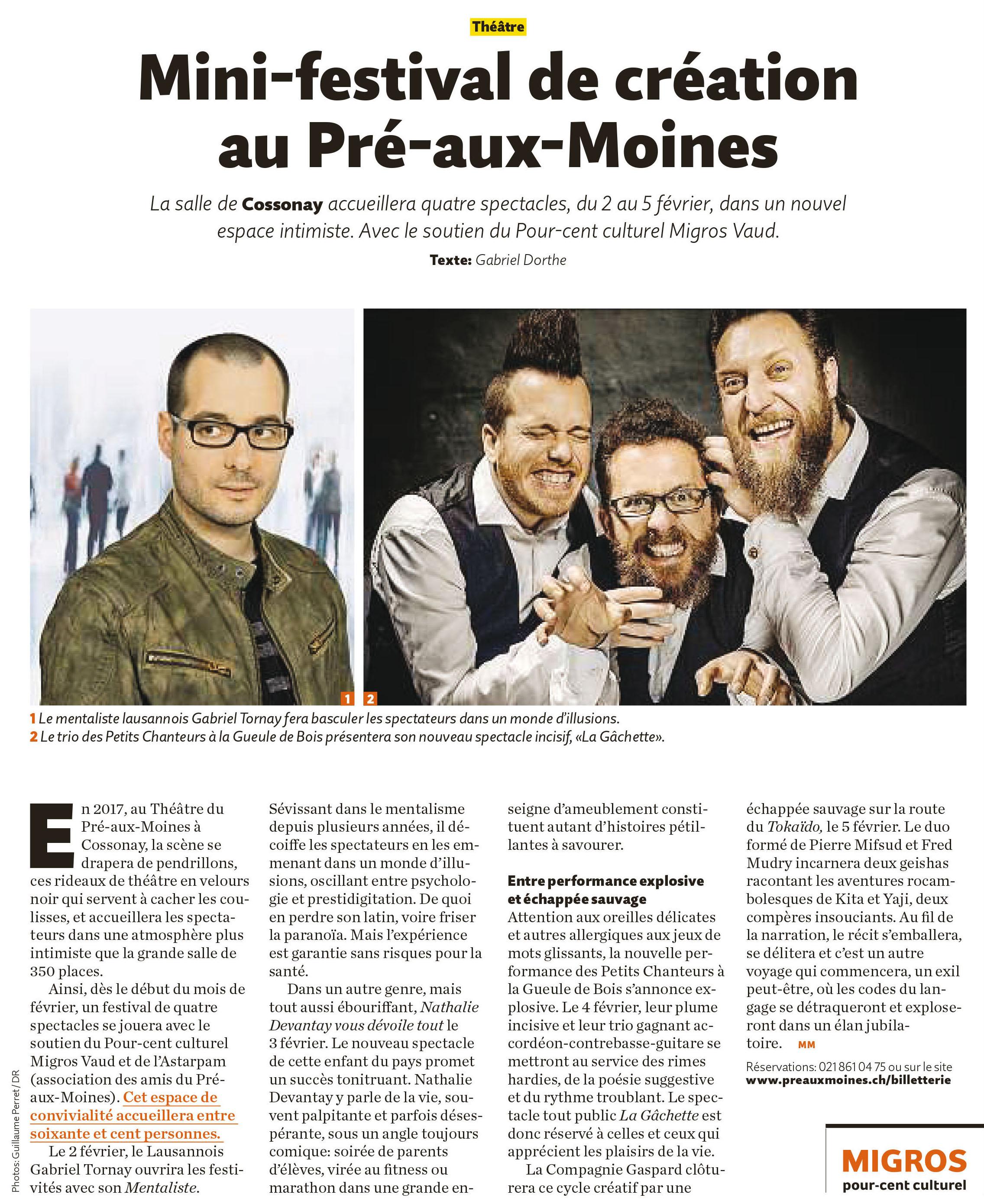Migros Magazine, 03.01.2017
