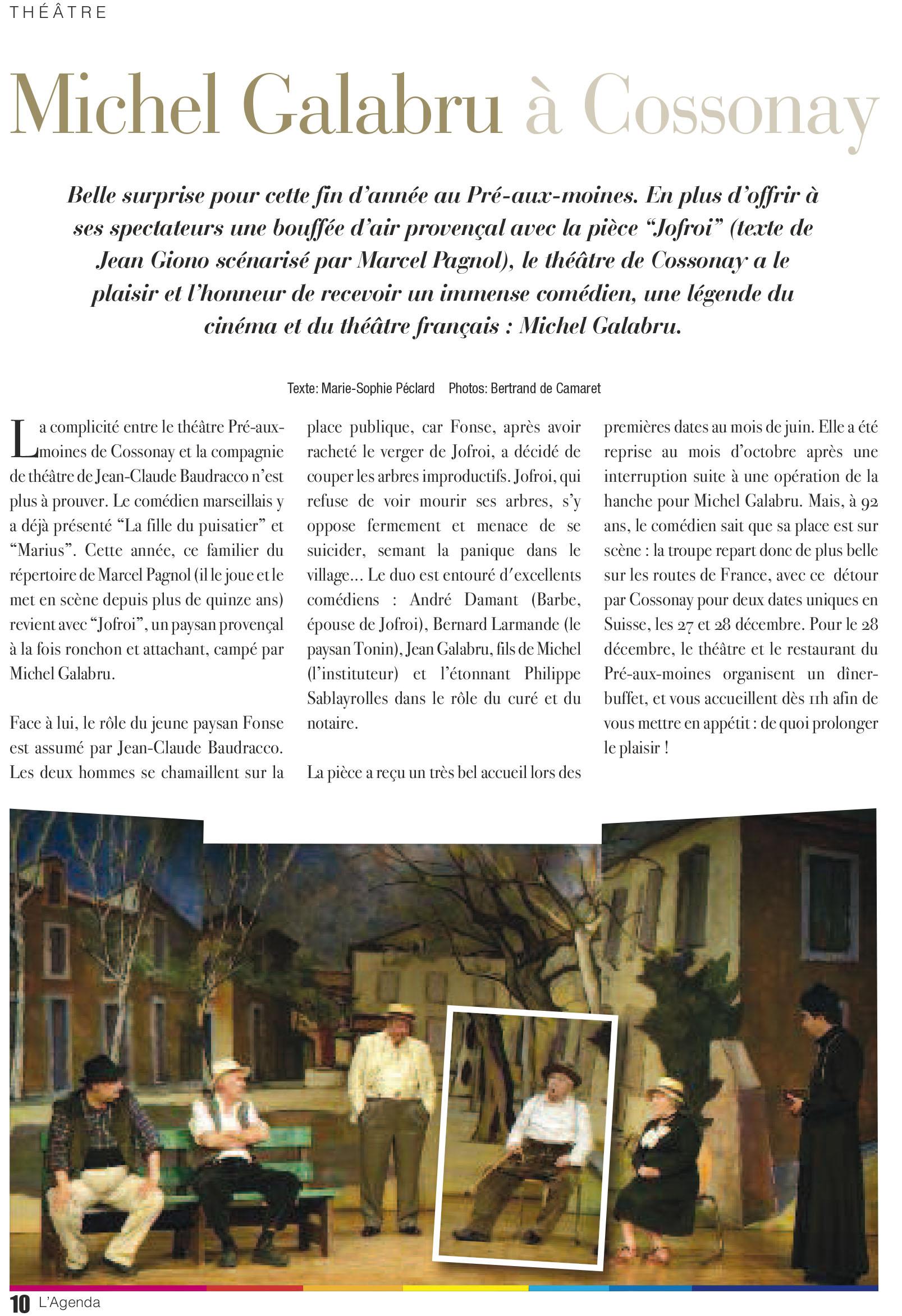 L'Agenda – La revue culturelle de l'Arc lémanique, No 55, novembre-décembre 2014