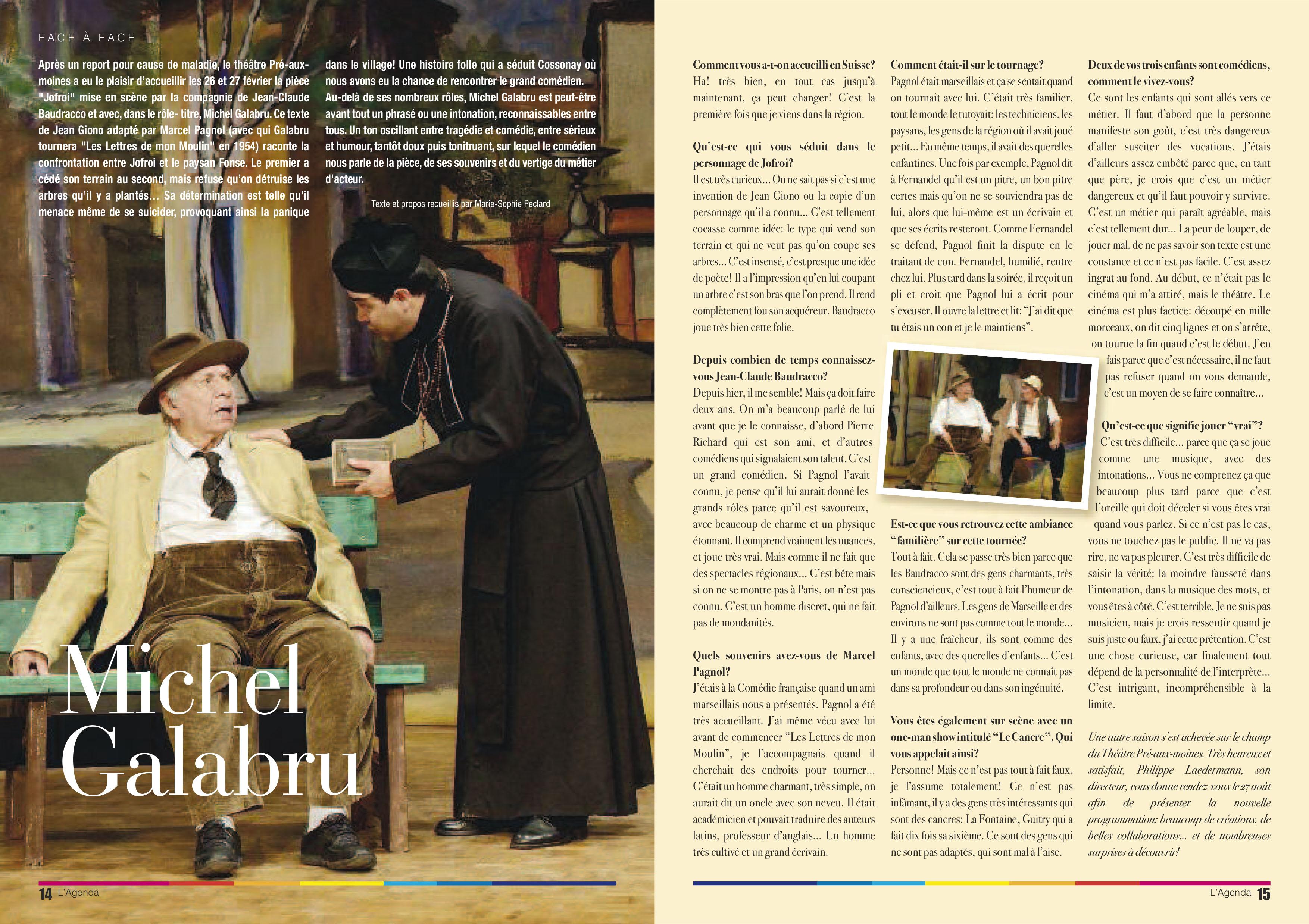 L'Agenda – La revue culturelle de l'Arc lémanique, No 58, mai-juin 2015