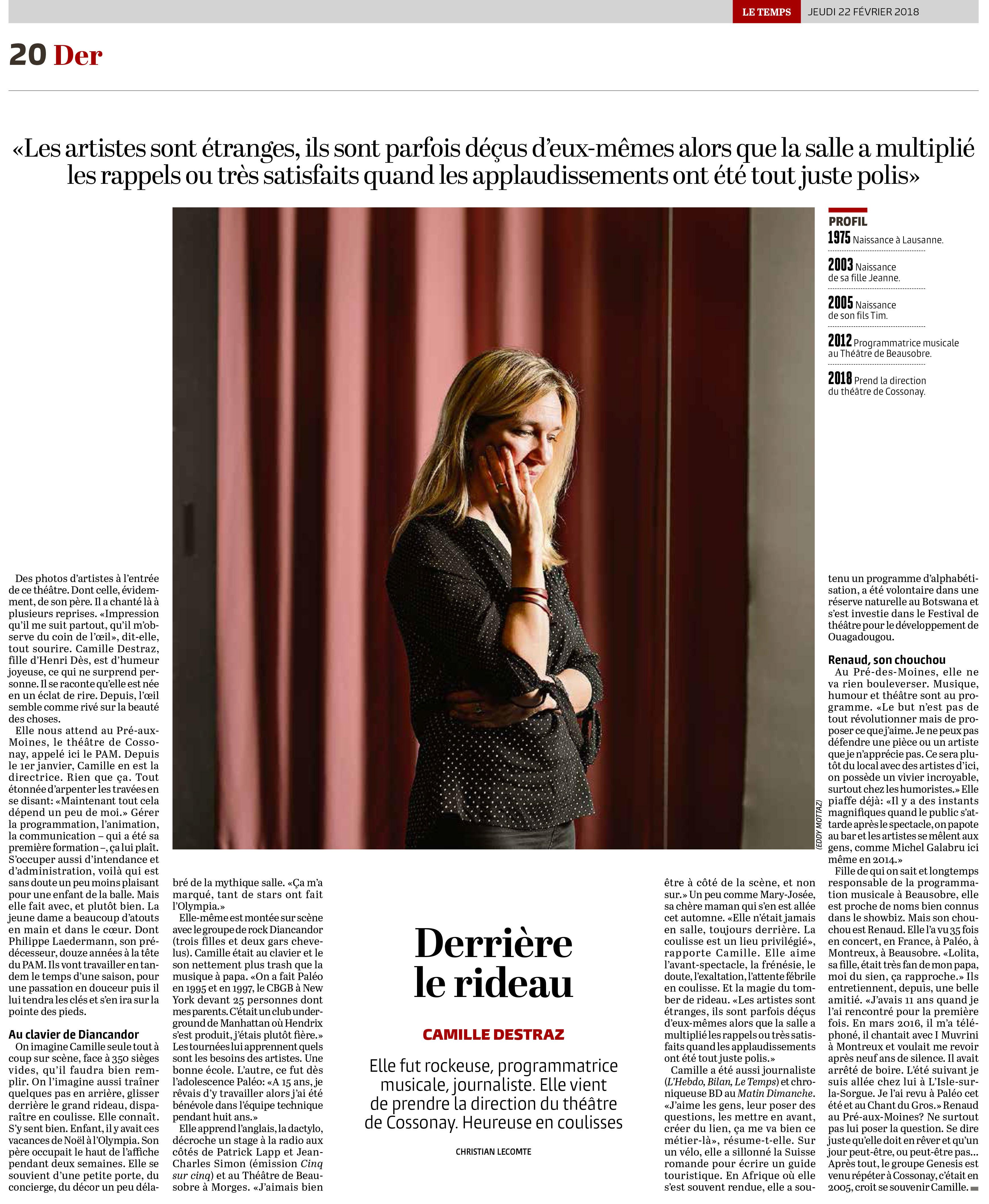 Le Temps, 22.02.2018