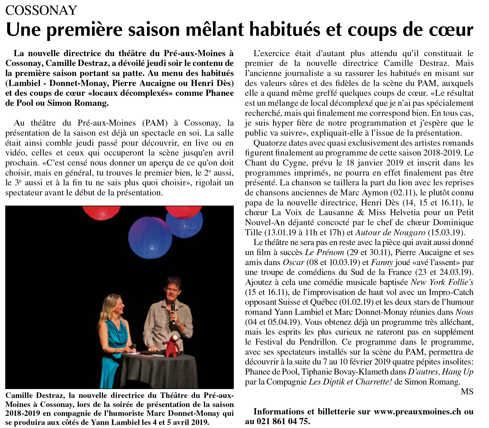 L'Echo du Gros-de-Vaud, 07.09.2018