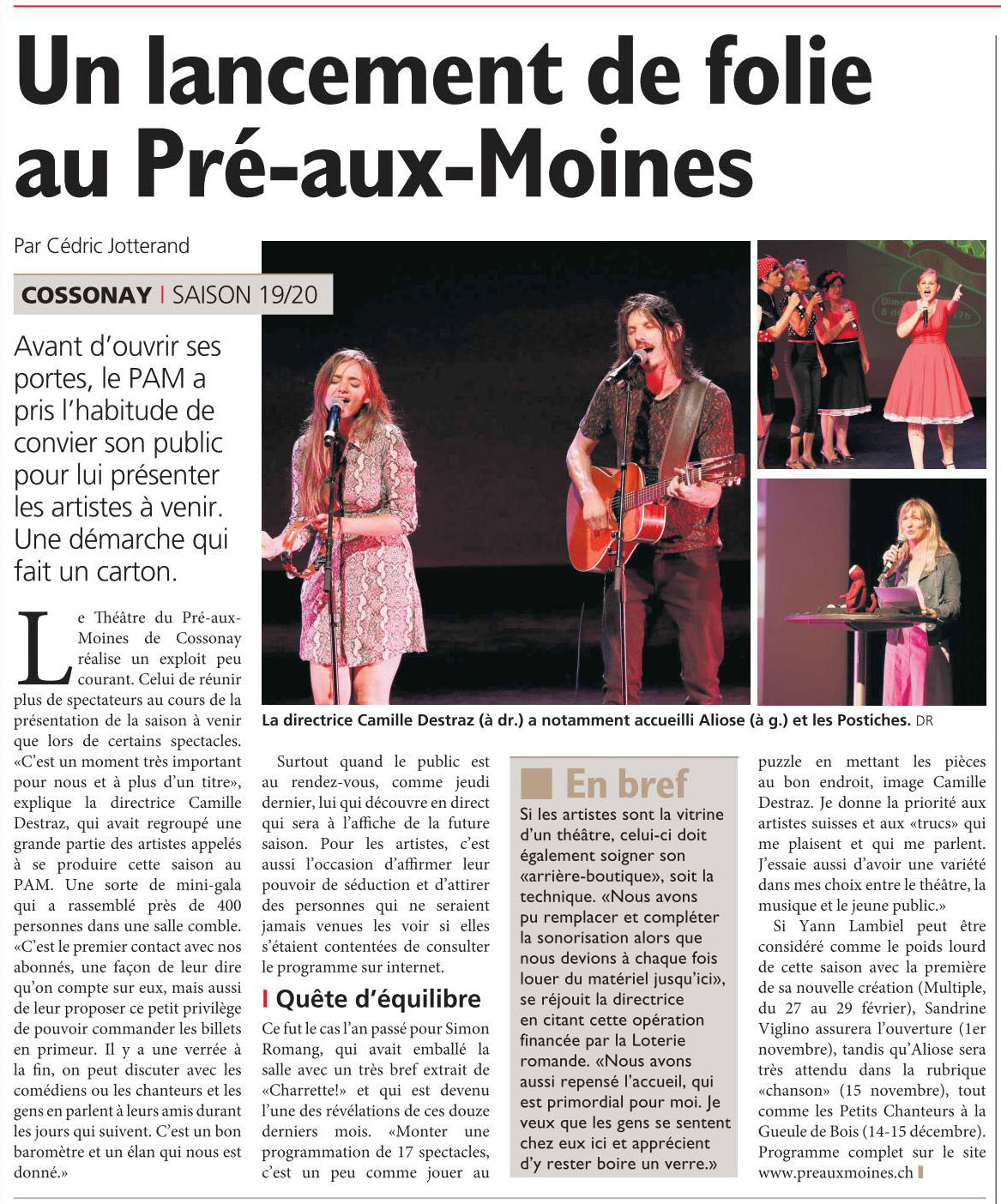 Journal de Morges, 06.09.2019